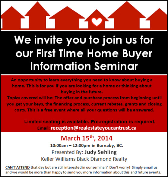First Time Home Buyer Seminar March 15 2014